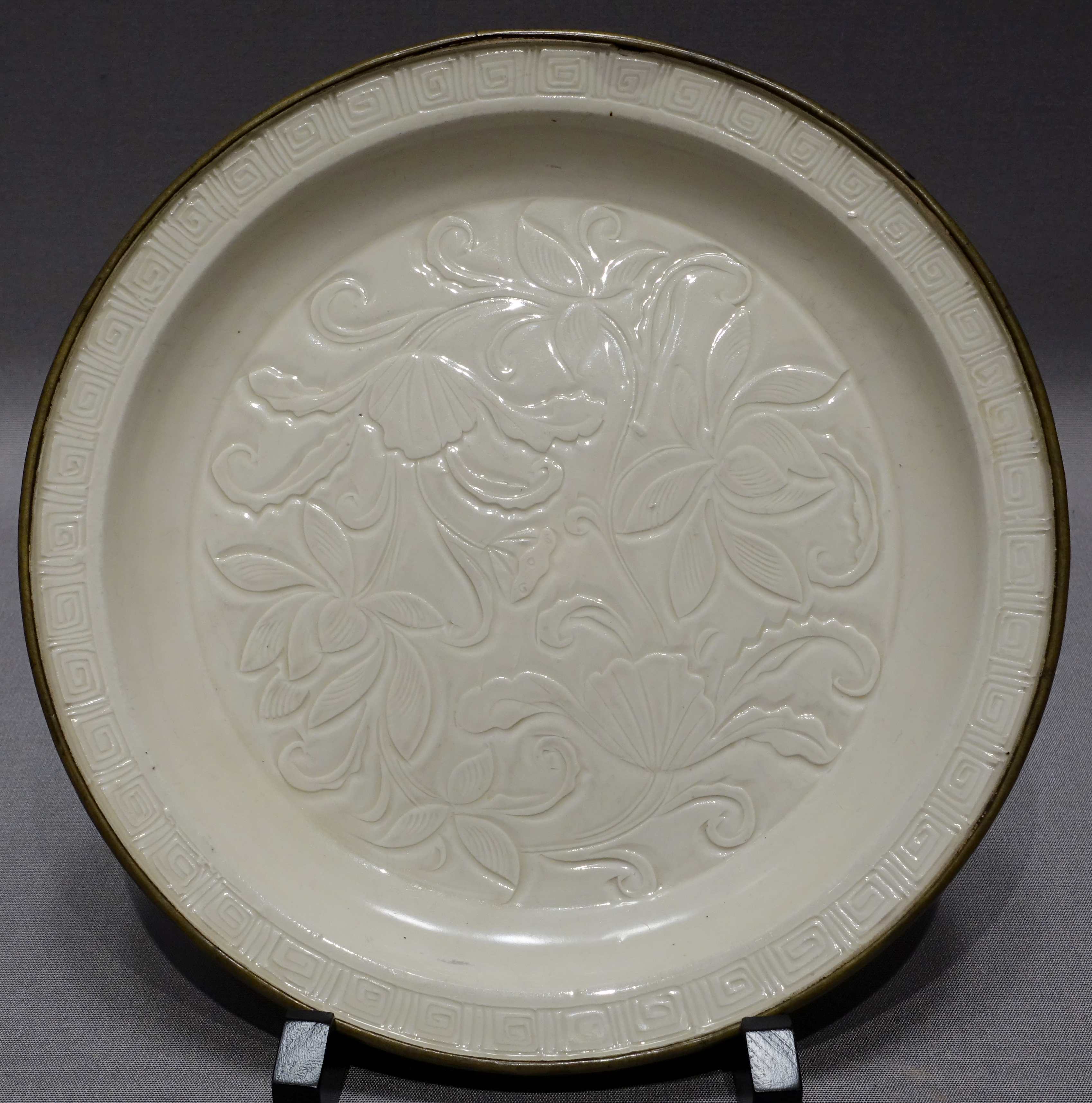 Filedish With Carved Lotus Flower Design Ding Ware China