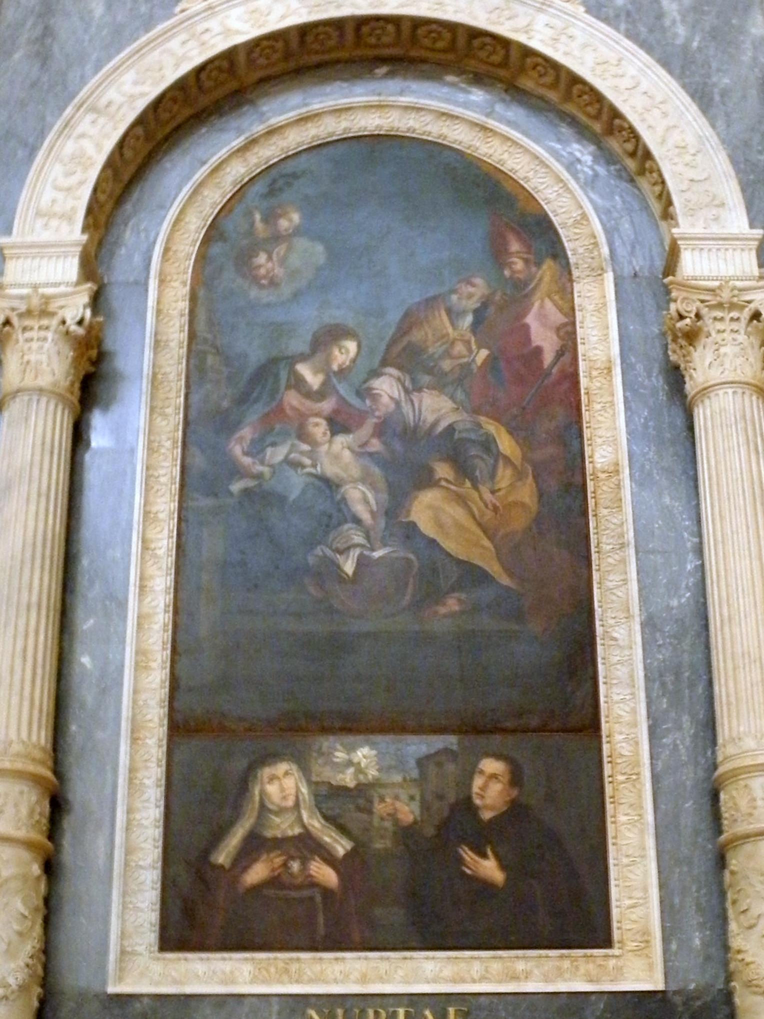 File Duomo Di San Martino Vescovo Interno Doppia Pala Altare Sant Anna Legnago Jpg Wikimedia Commons