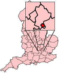 Luton shown within England