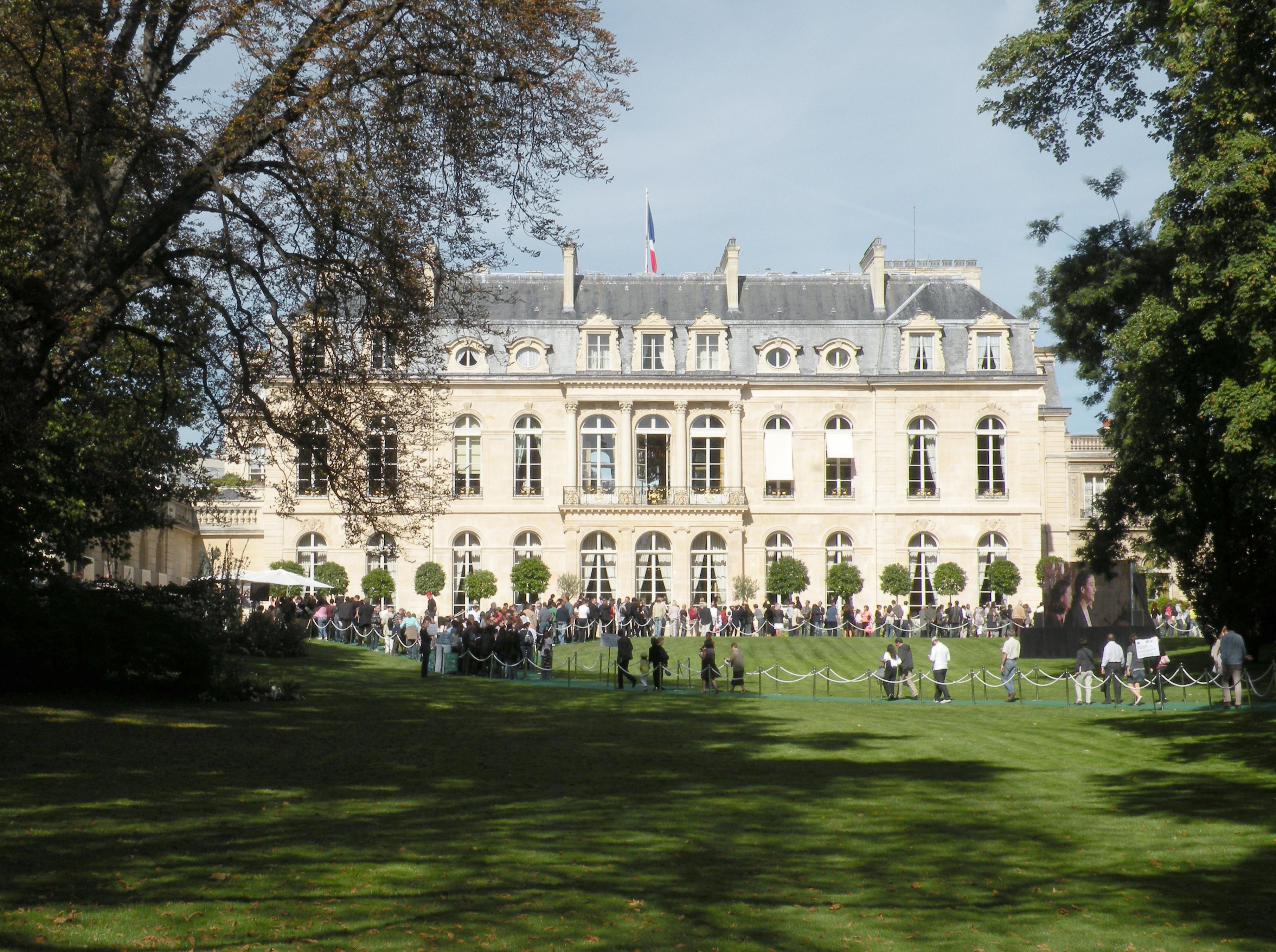 Au coeur de l elys e visite virtuelle et comment e du for Au jardin du port le palais