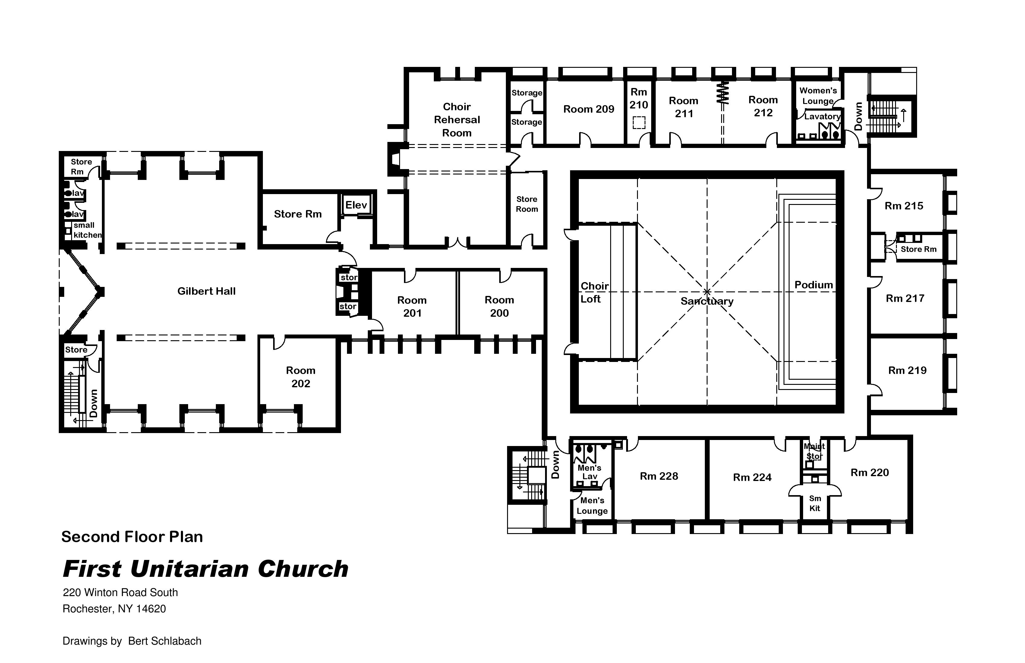 File First Unitarian Church Of Rochester Ny 2nd Floor Plan Jpg Wikimedia Commons