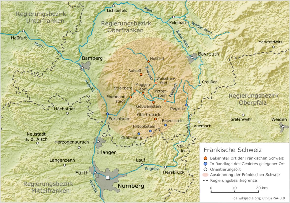 Fränkische Schweiz Karte.Datei Fraenkische Schweiz Relief1 Png Wikipedia