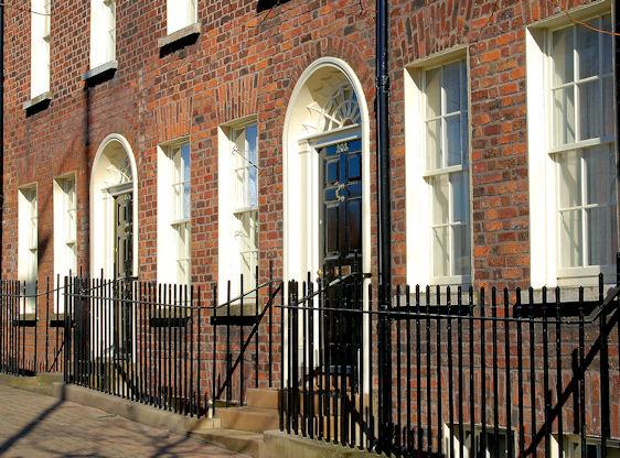 Georgian doors and windows, Belfast - geograph.org.uk - 1731485.jpg