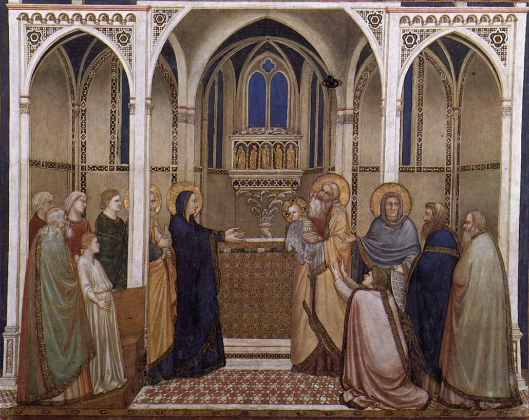 Giotto, Presentazione del Signore al Tempio dans immagini sacre Giotto_di_Bondone_-_Presentation_of_Christ_in_the_Temple_-_WGA09082