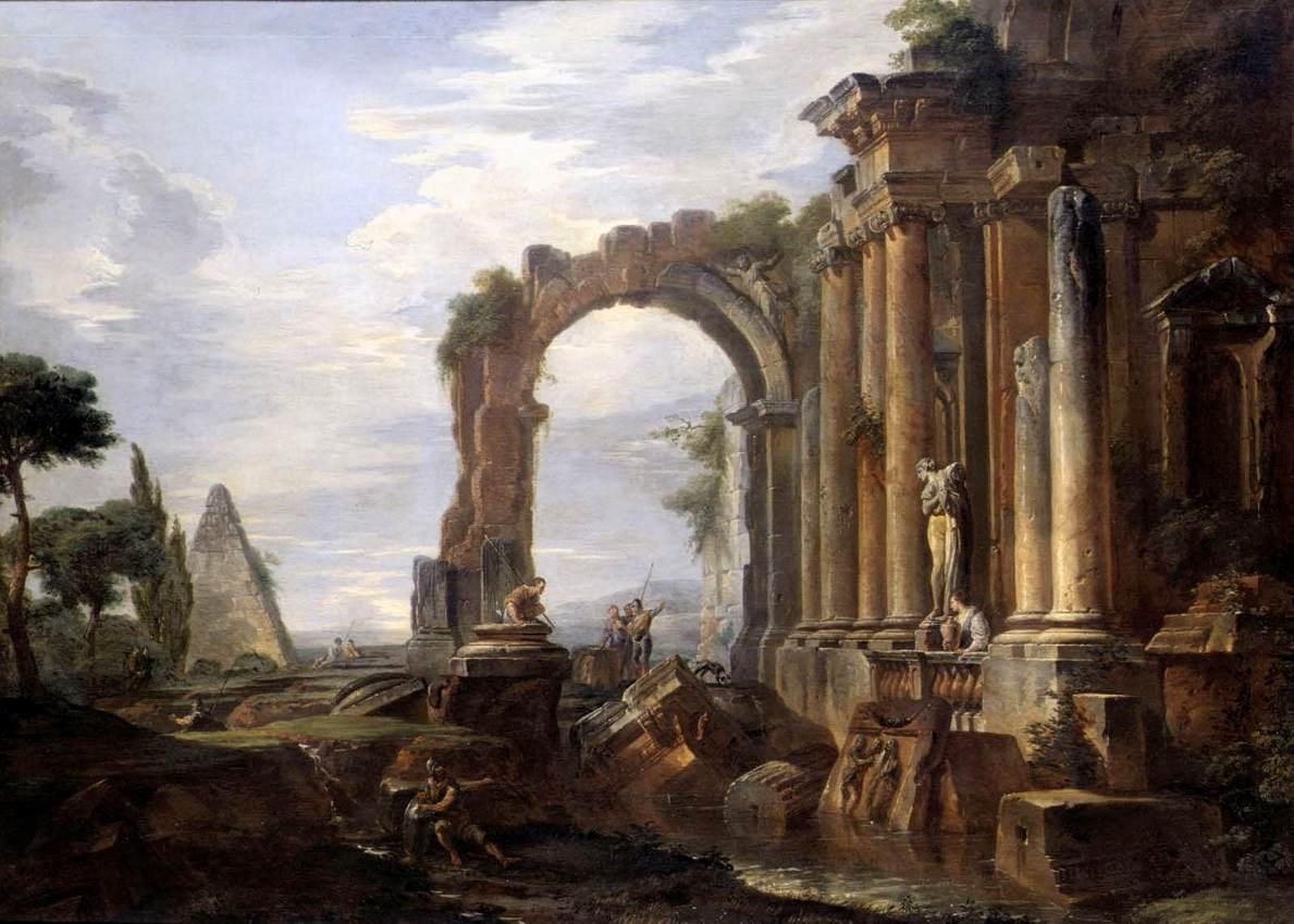 Ruins in art: Giovanni Paolo Panini, Capriccio of Classical Ruins