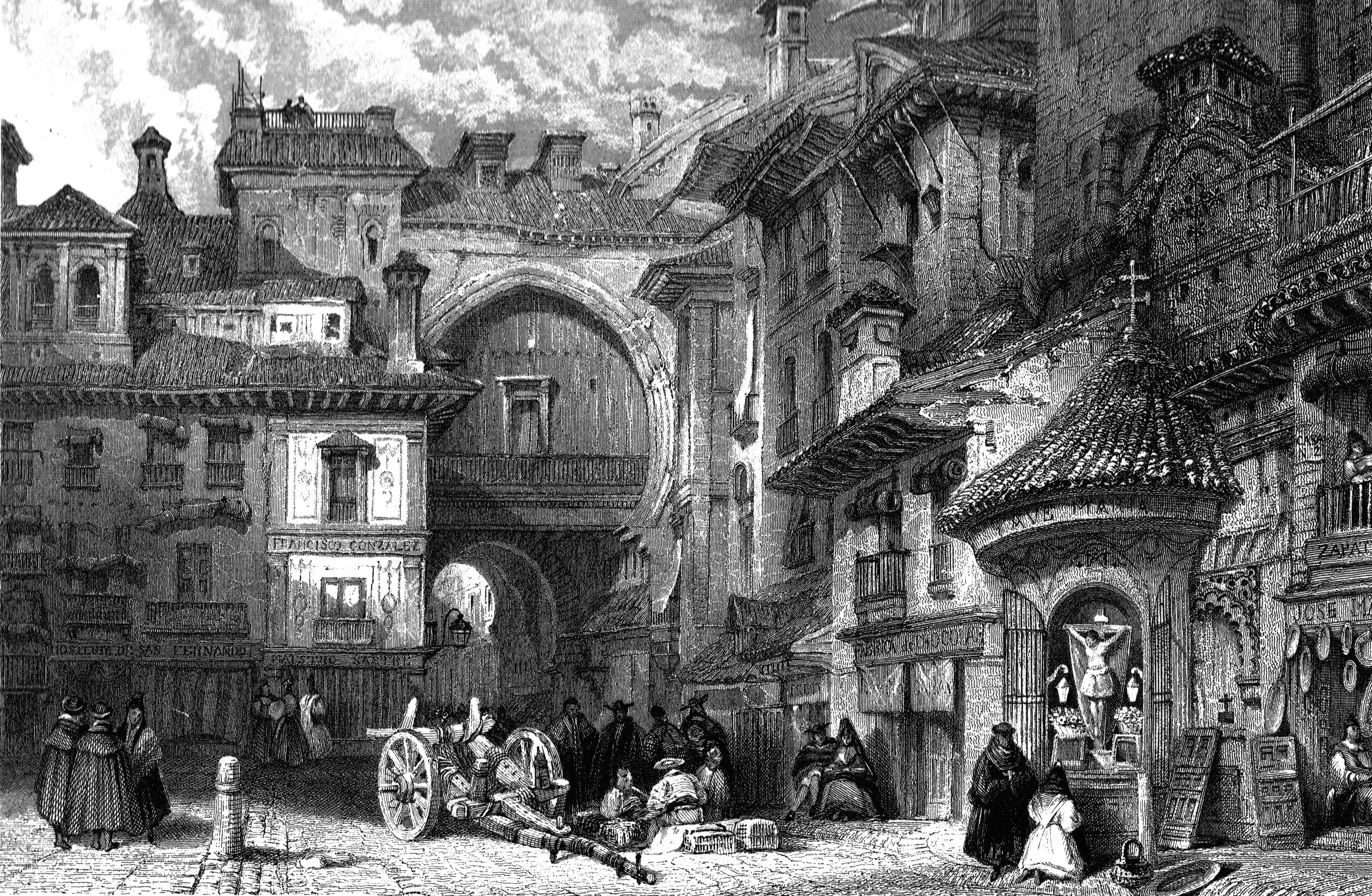 Description Granada Moorish Gate c1830.jpg