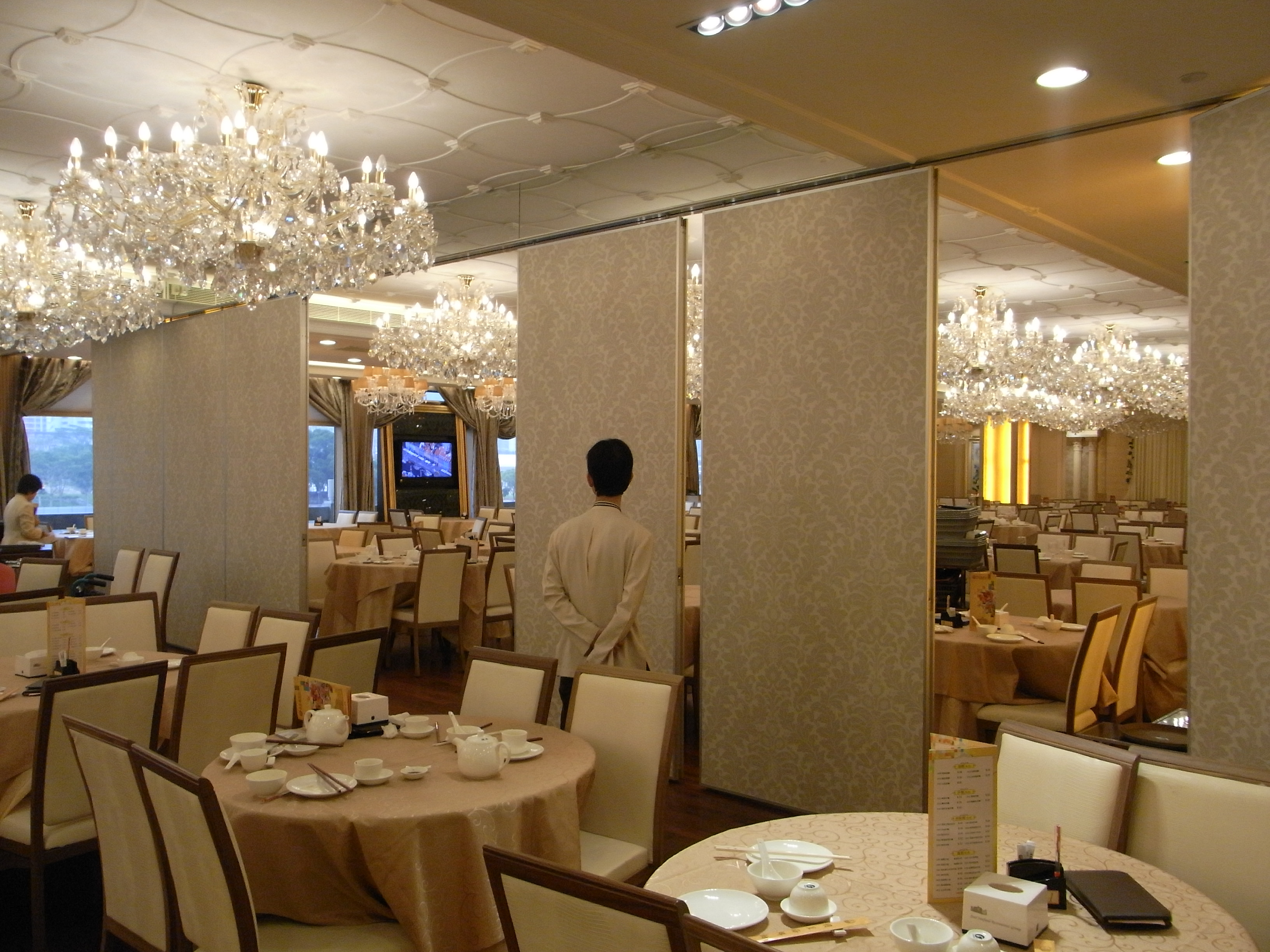 File Hk Shatin Star Seafood Floating Restaurant Interior Moving Partition