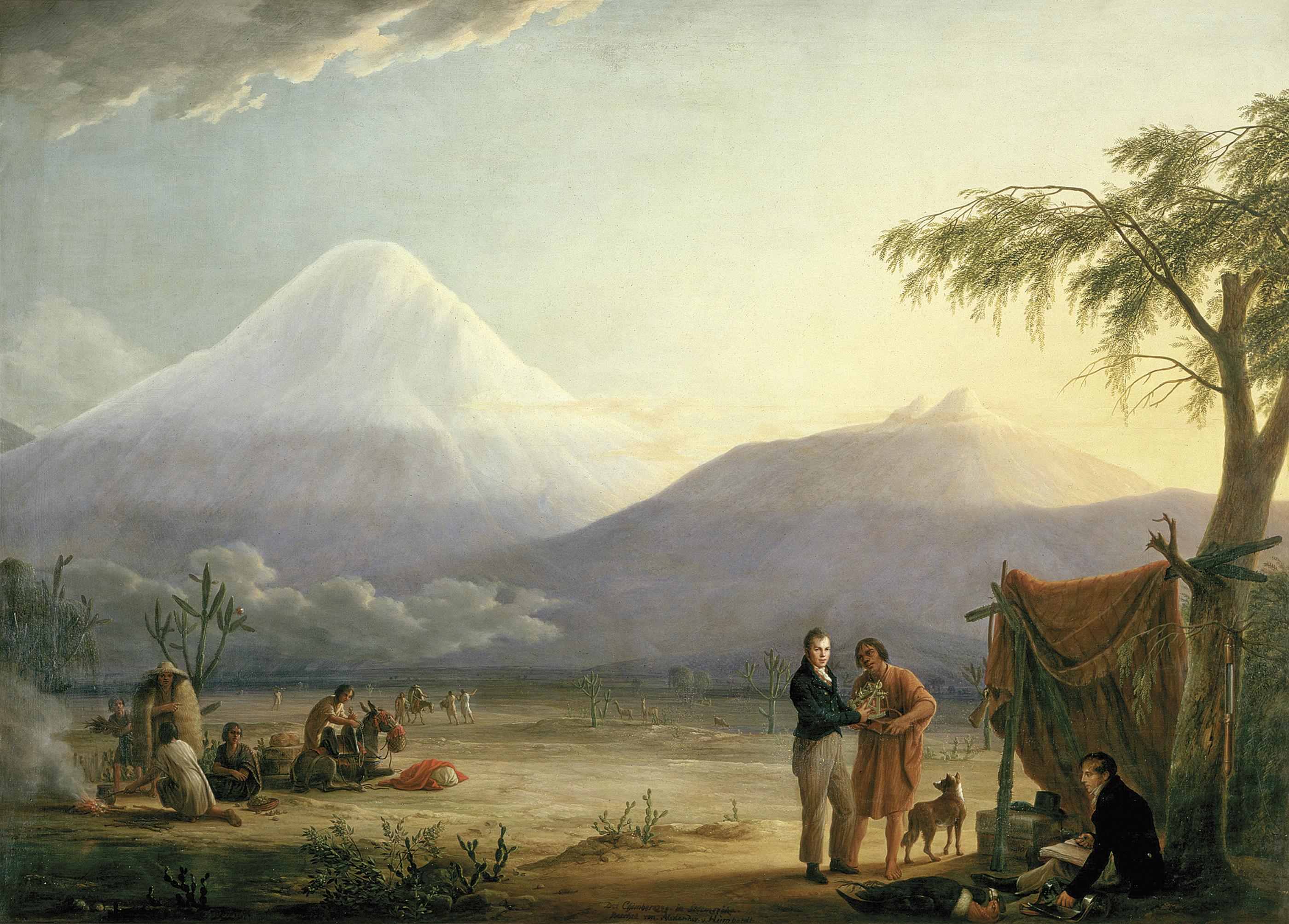 Alexander von Humboldt y Aime Bonpland al pie del Chimborazo