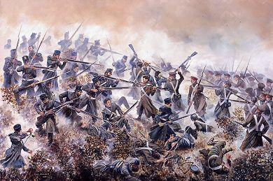The 20th Foot at the Battle of Inkerman, by David Rowlands Inkermann.jpg