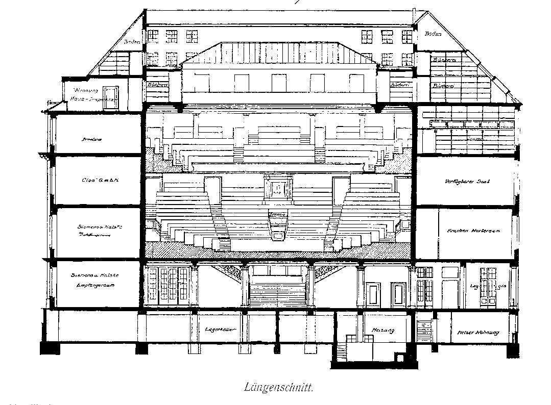 File langenbeck virchow haus berlin l ngenschnittzeichnung for Haus bauplan