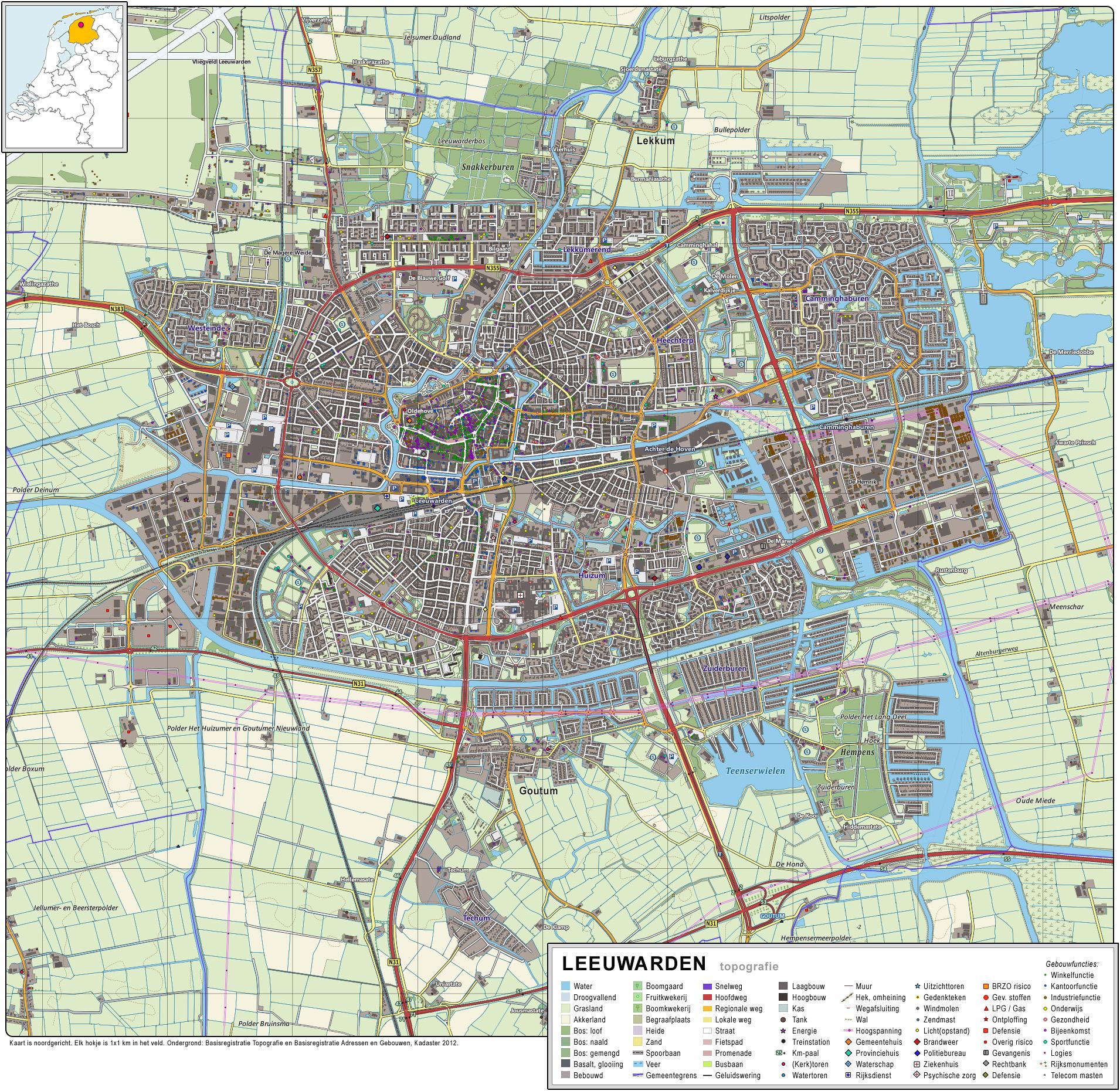 File Leeuwarden Topografie Jpg Wikimedia Commons