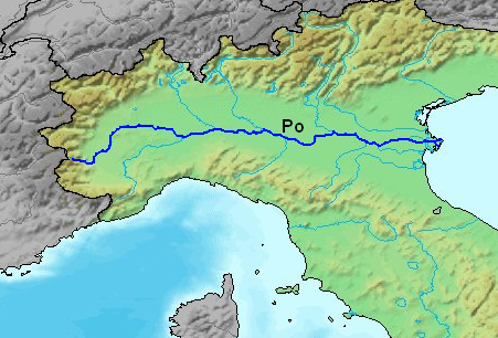 Po River: (contained by) Italy