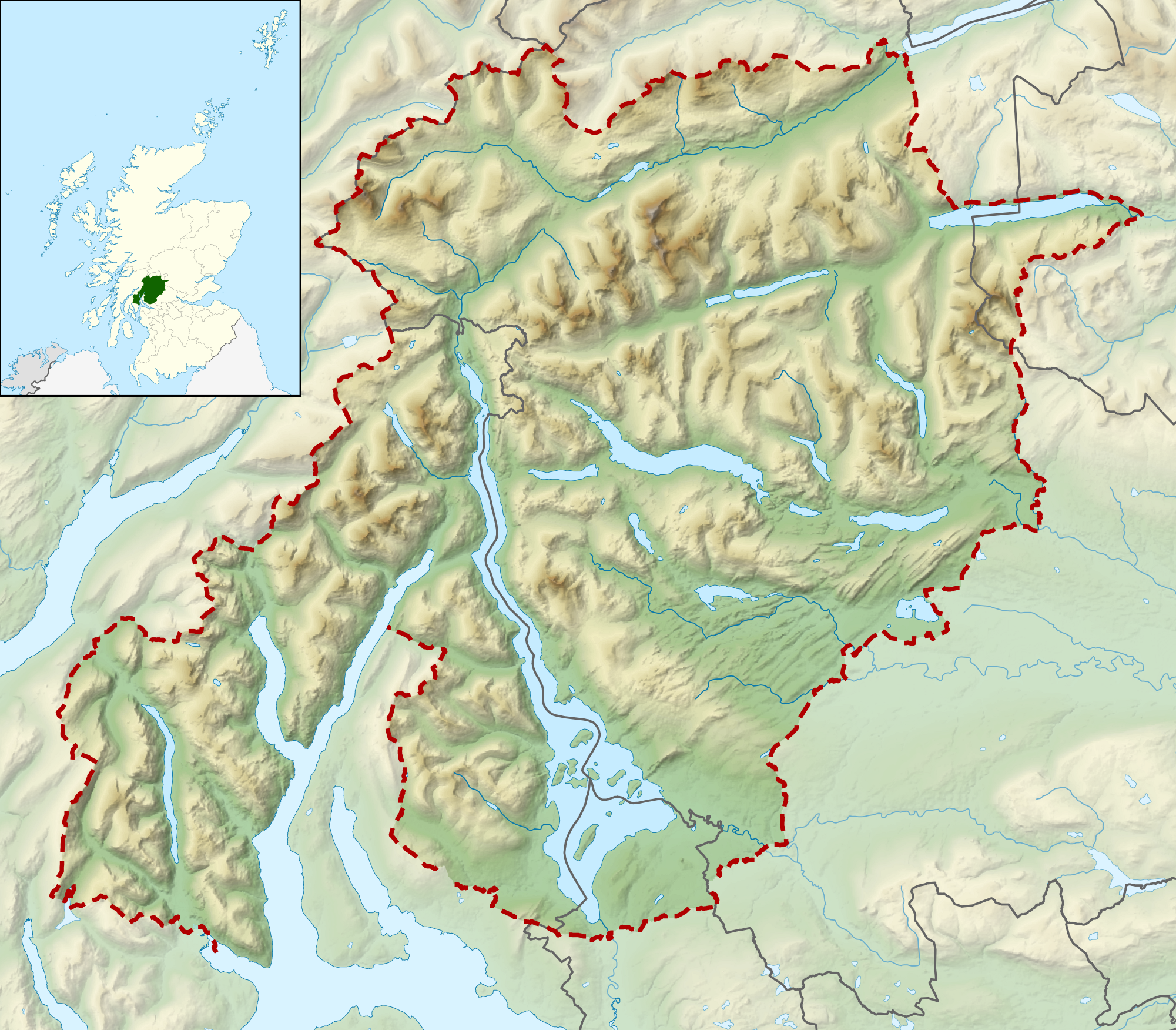 FileLoch Lomond And The Trossachs National Park UK Relief - National parks locations map