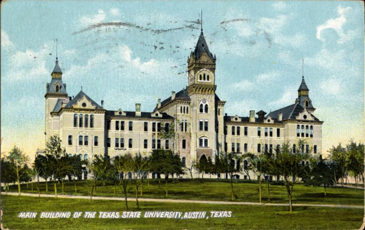 Description main building of the texas state university austin texas