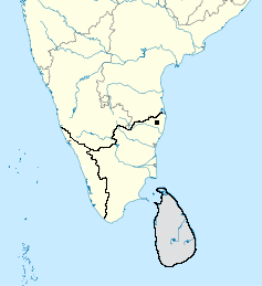 File:Map of South-India and Sri Lanka - Kanchipuram.png ... on india map with asia, india map with neighboring countries, india map with bodies of water, india map with himalayas, india map with other countries, india map with indus river, india map with neighbouring countries, india map with maldives,