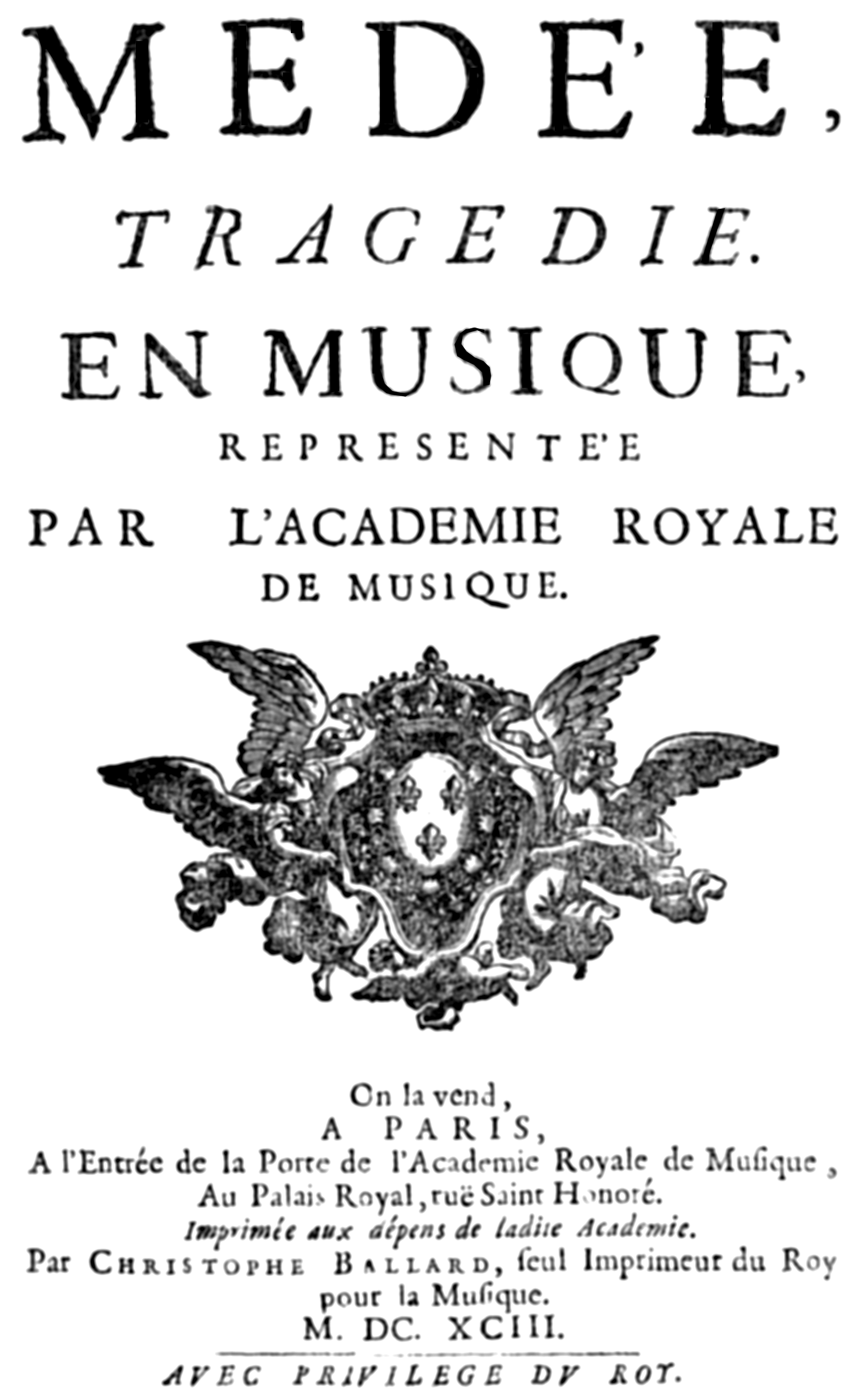 Datei:Marc-Antoine Charpentier - Médée - title page of the libretto ...