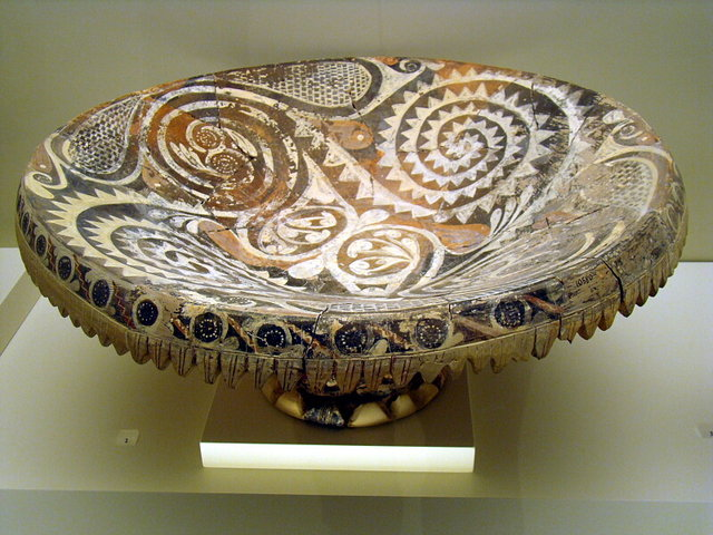 Minoan Kamares ware offering stand