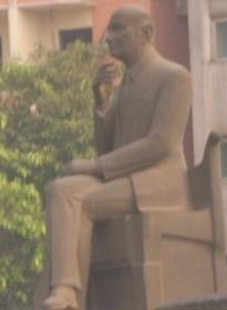 Egyptian Singer And Composer Mohammed Abdel Wahab Statue At Bab El Shariya Square Cairo