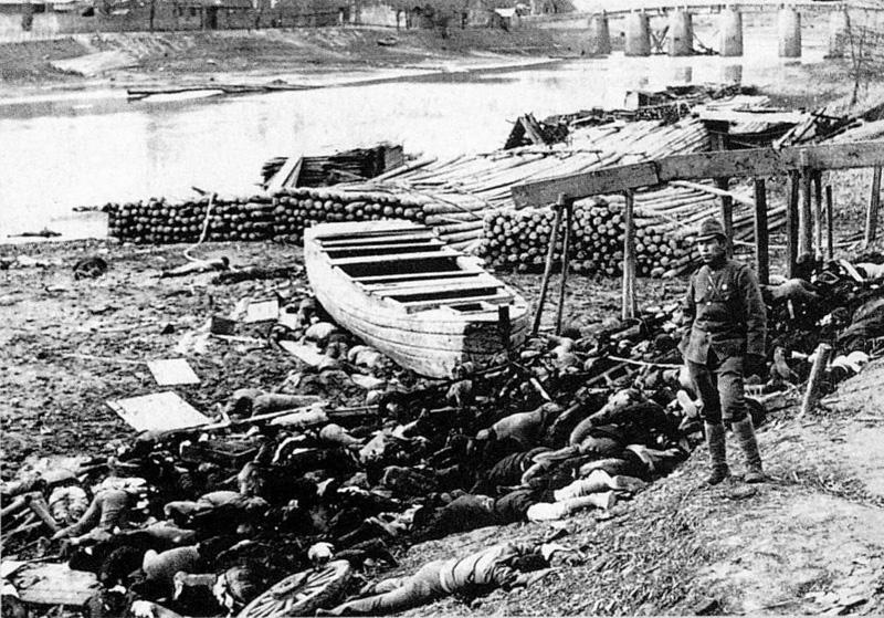 南京下关码头尸体堆积如山