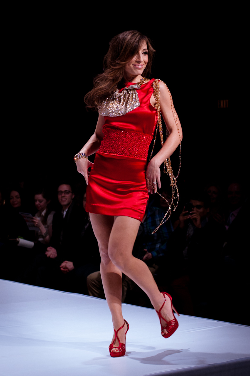Fashion Show Red Dress
