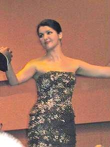 Deutsch: Anna Netrebko bei ihrem Deutschland-Debüt
