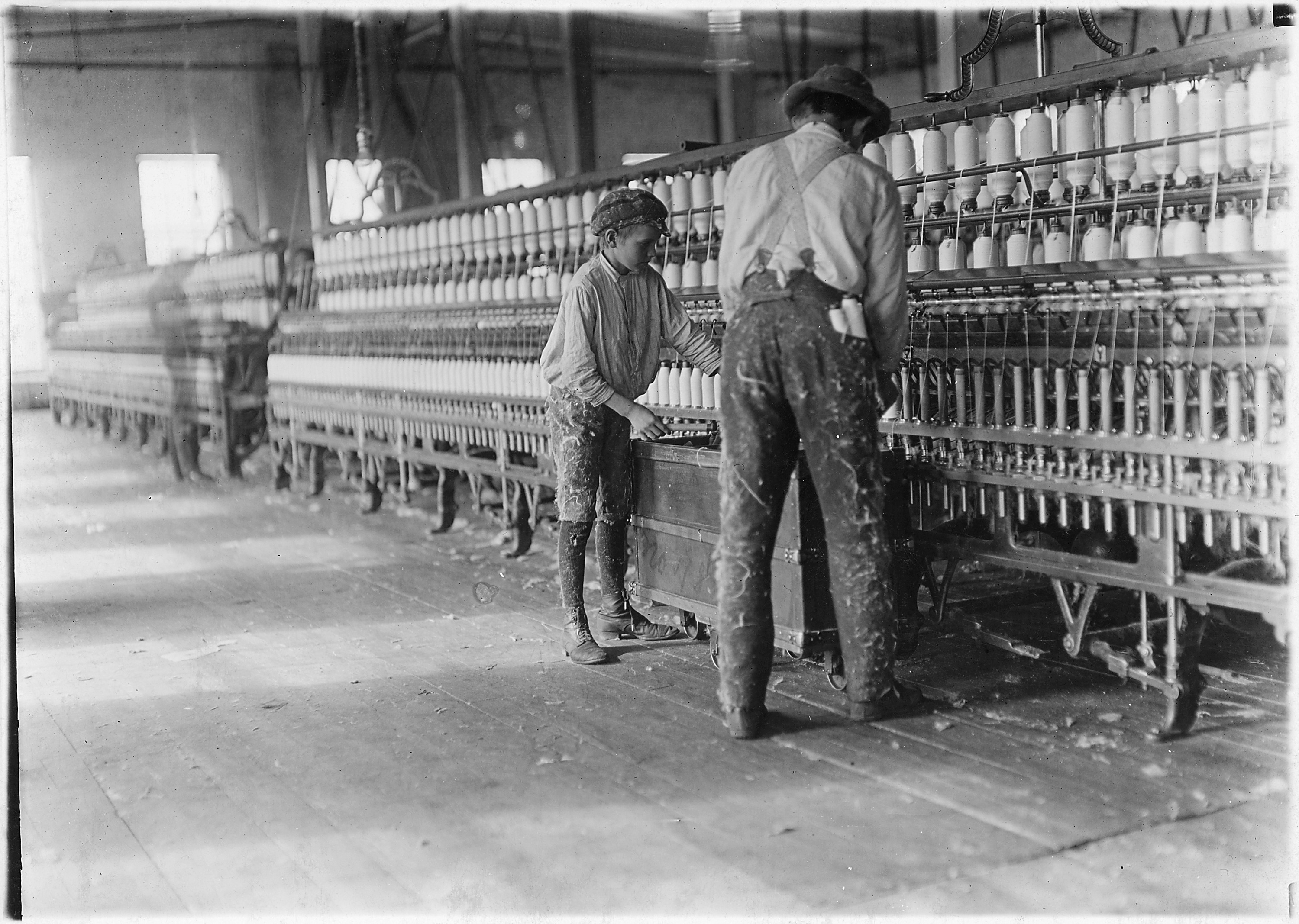 Industrial Revolution Mills File:One of the doffer...