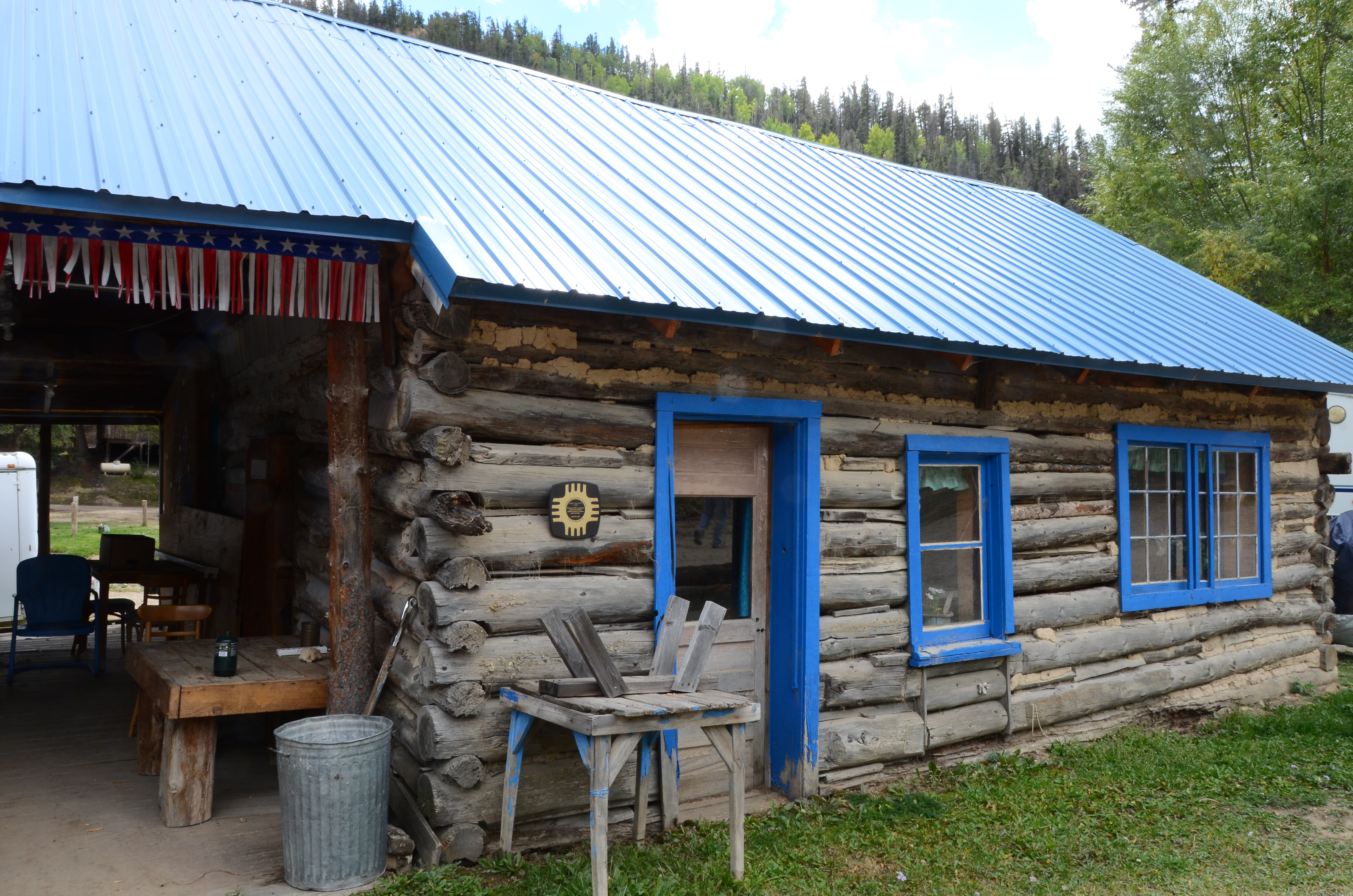 yard river open around our private porch home nm ha wrap washer property cabins wifi cabin spacious living tenderfoot red area in