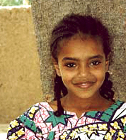 Chad-Demographics-Ouaddaian girl from Chad