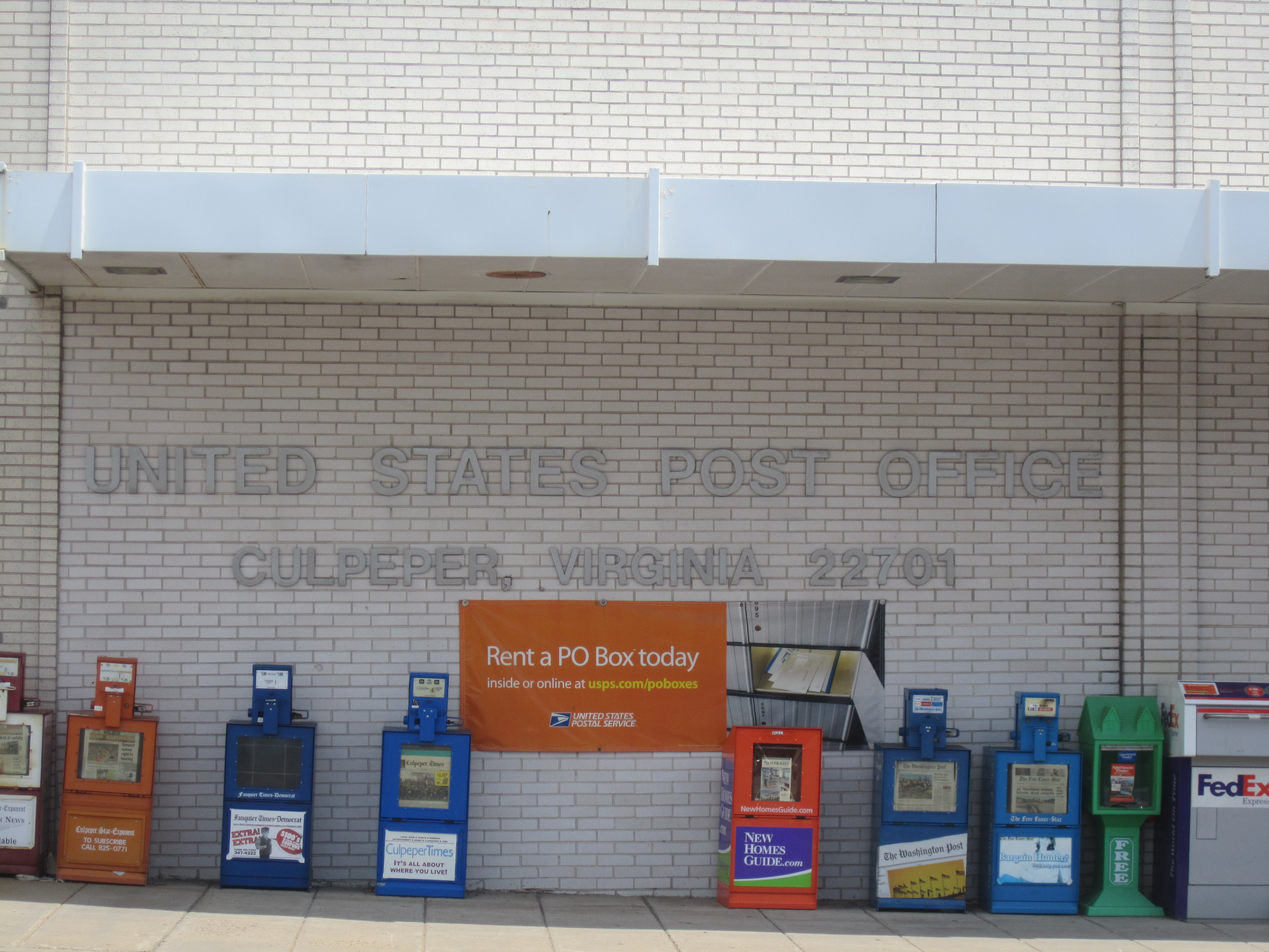 Photo of U.S. Post Office in Culpeper
