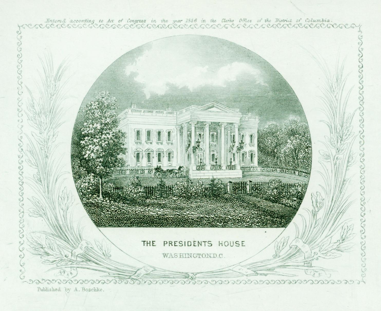 White House Engraving, 1855
