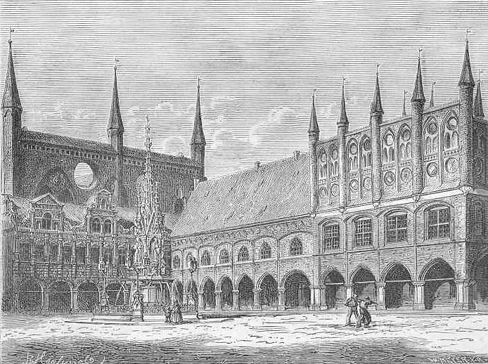 File:Radhuset i Luebeck 1880-tal.png