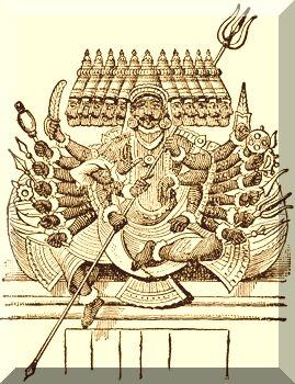 English: Sketch of Ravana