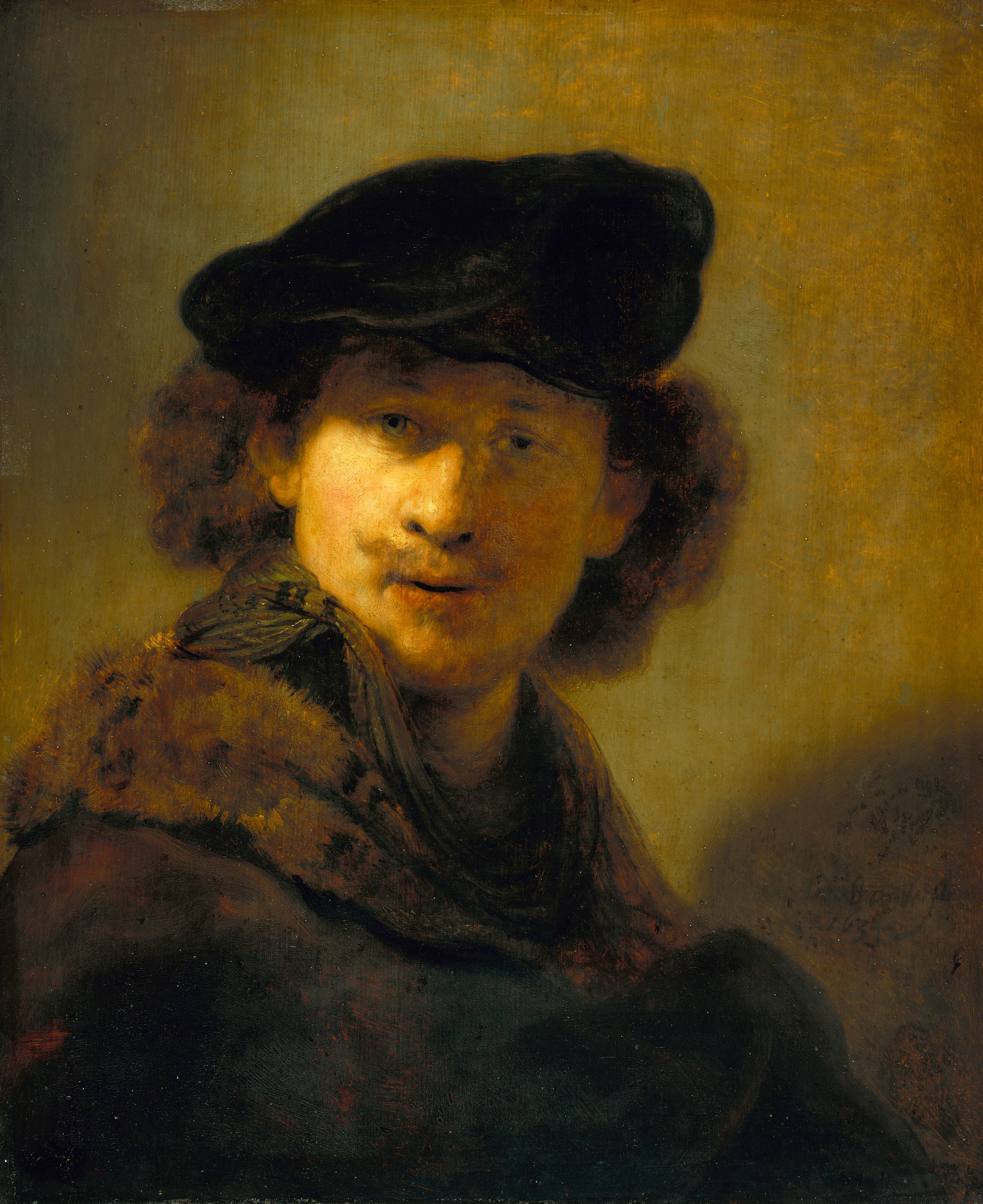File rembrandt self portrait with velvet beret google art project