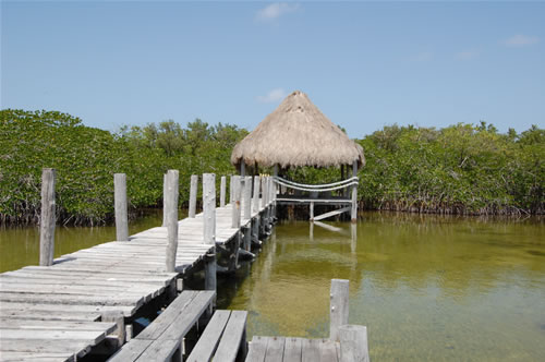 A palapa on the Huach River
