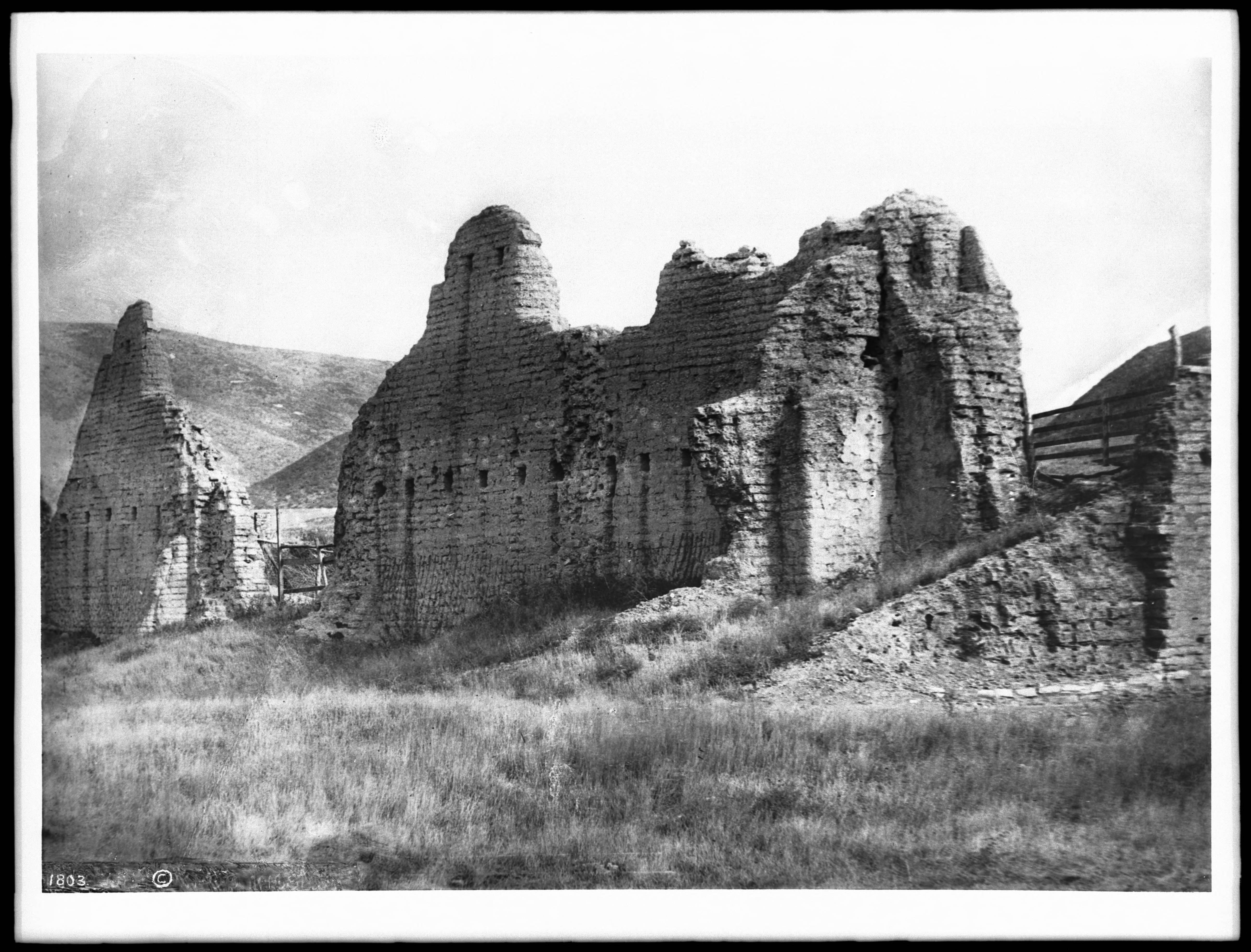 Mission Hills Ca >> File:Ruins of Mission La Purisima Concepcion, ca.1885-1904 (CHS-1803).jpg - Wikimedia Commons