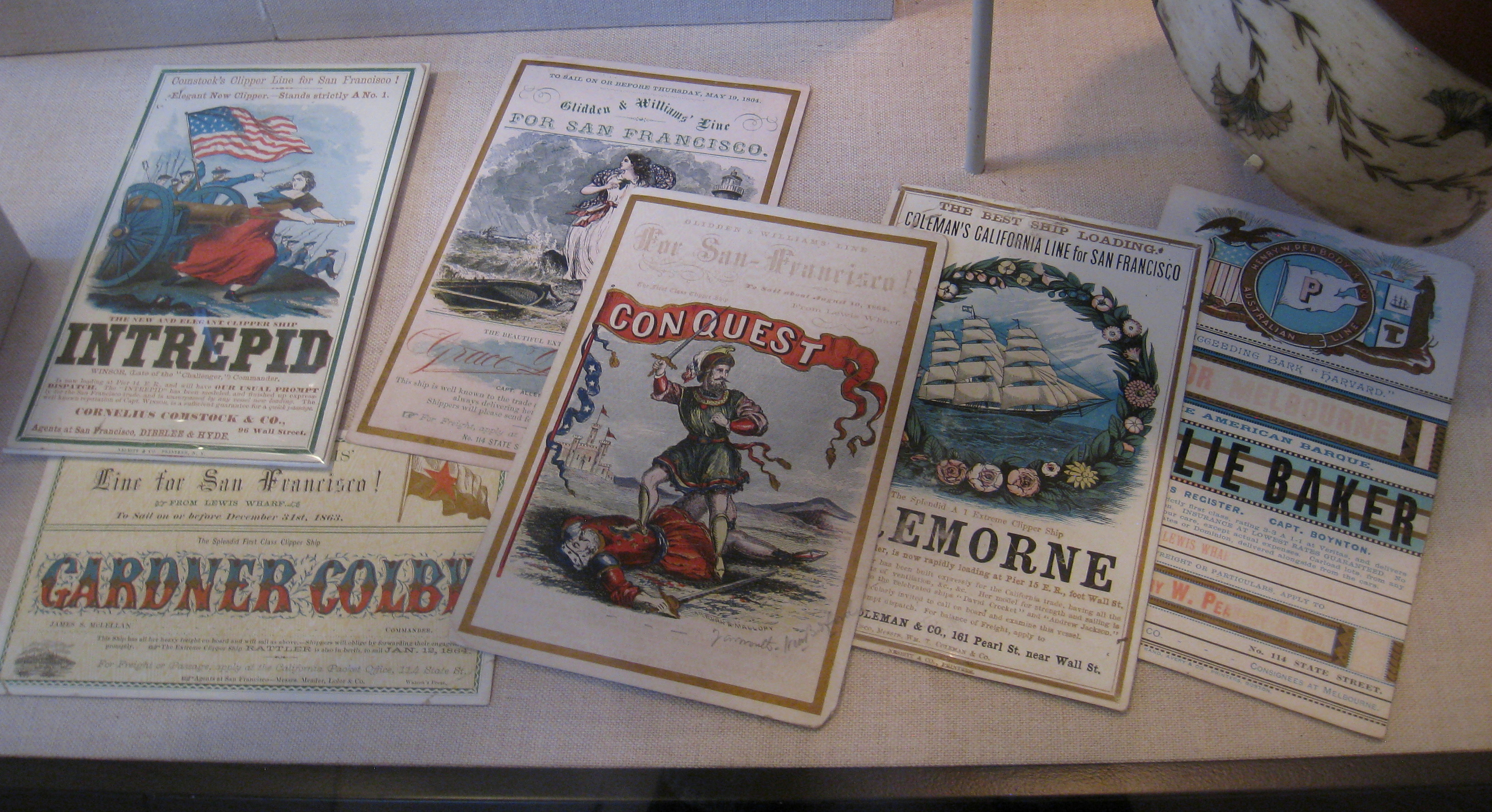 File:Sailing cards, 1800s - Old State House Museum, Boston, MA -
