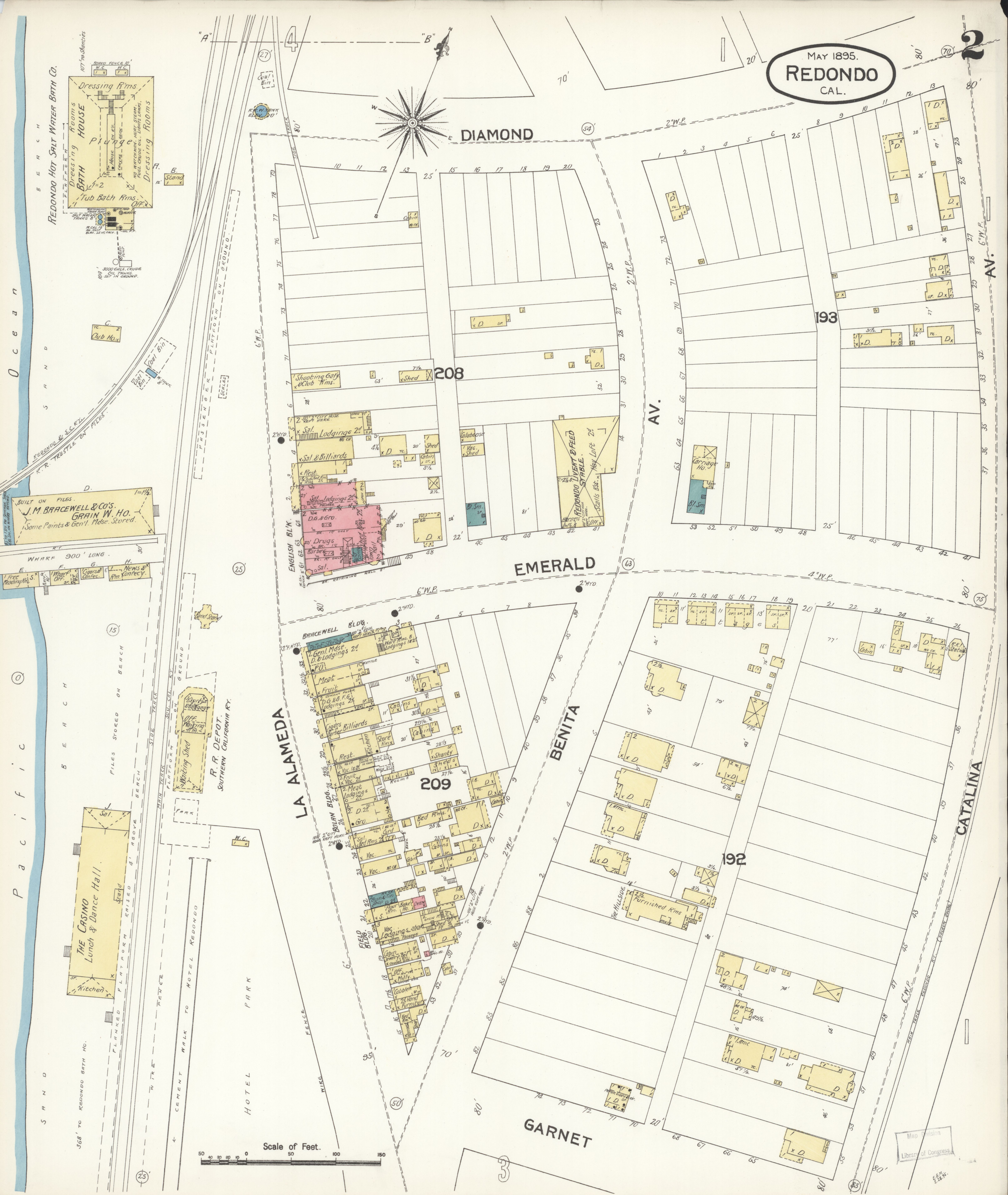 File Sanborn Fire Insurance Map From Redondo Beach Los Angeles