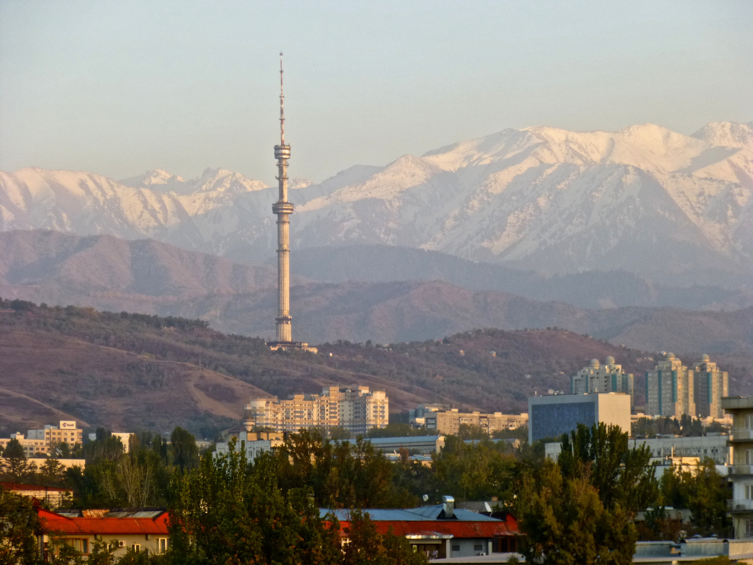 Television tower in Almaty, Kazakhstan (constructed 1983)