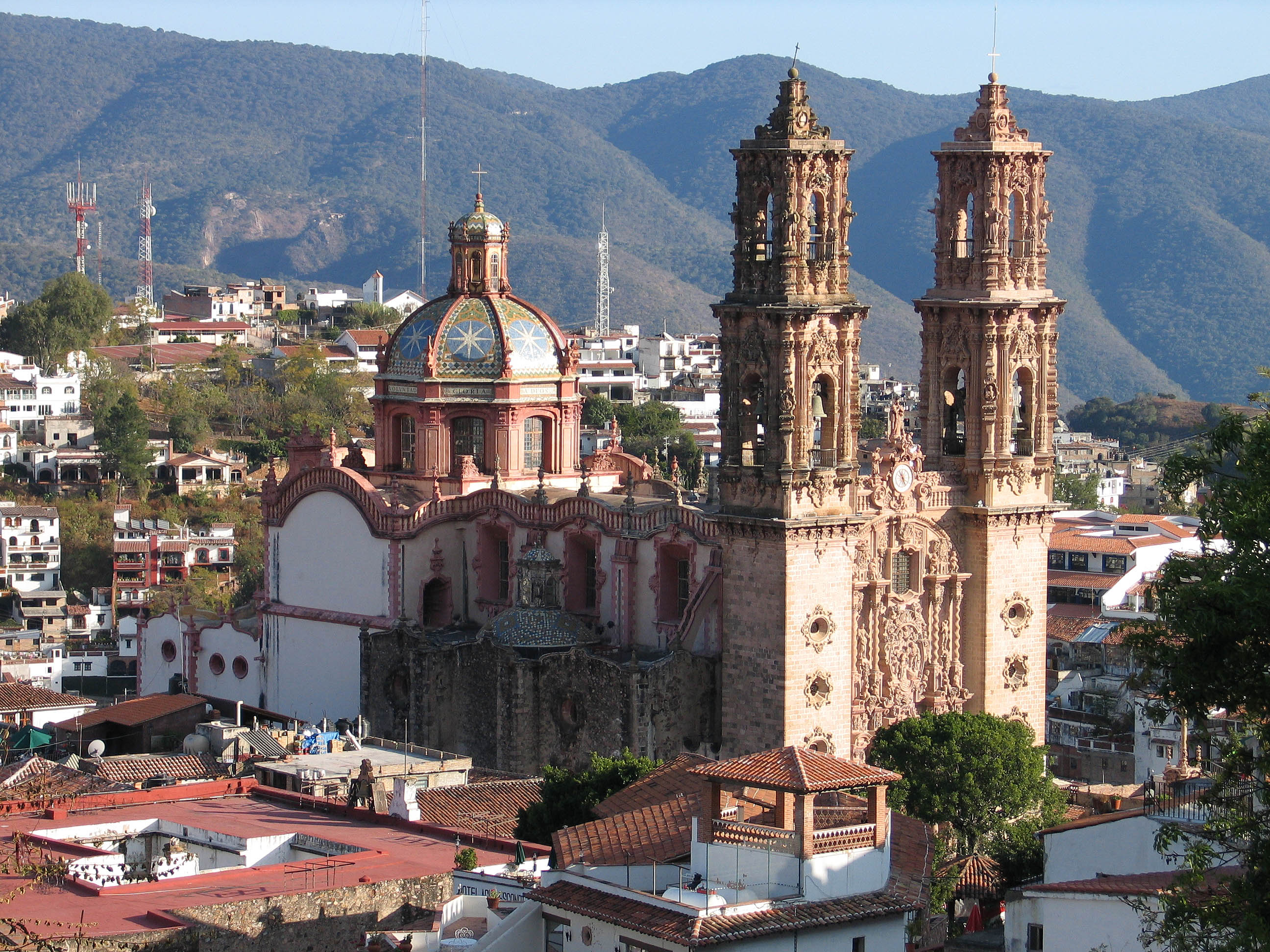 Church Of Santa Prisca In Taxco Mexican Churrigueresque