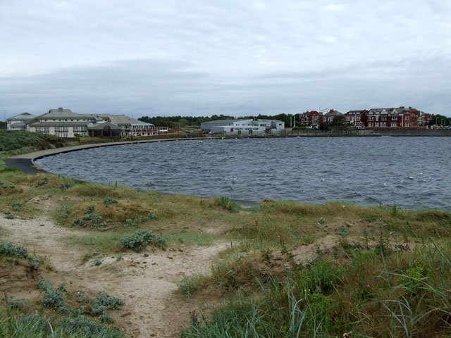 The Marine Lake on a windy day - geograph.org.uk - 199790