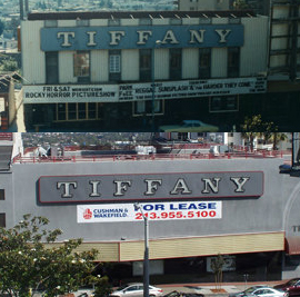 Tiffany Theater movie theater on Sunset Strip in West Hollywood, California, United States