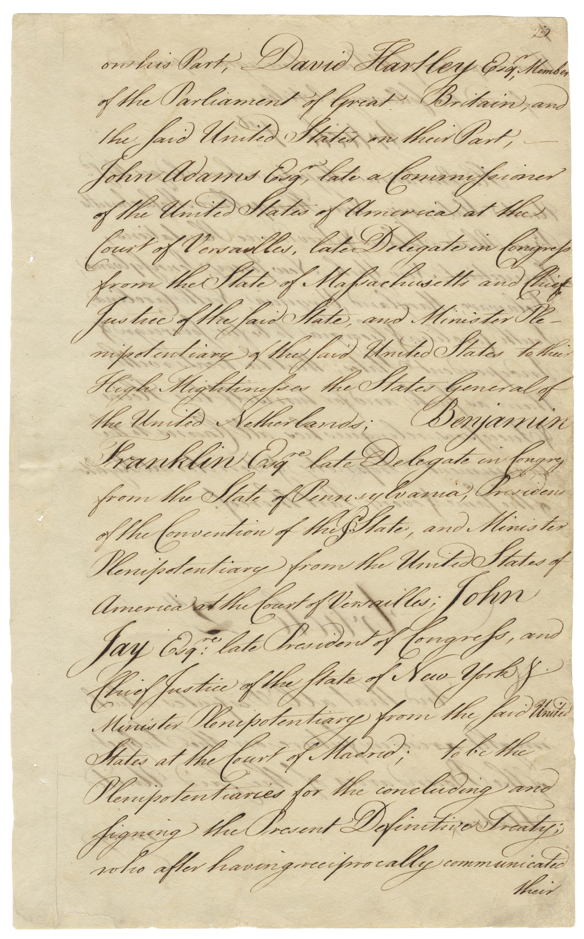 the treaty of paris 1783 Today in history–january 14–the library of congress features the treaty of paris , ratified by the continental congress on this day in 1784, nine.
