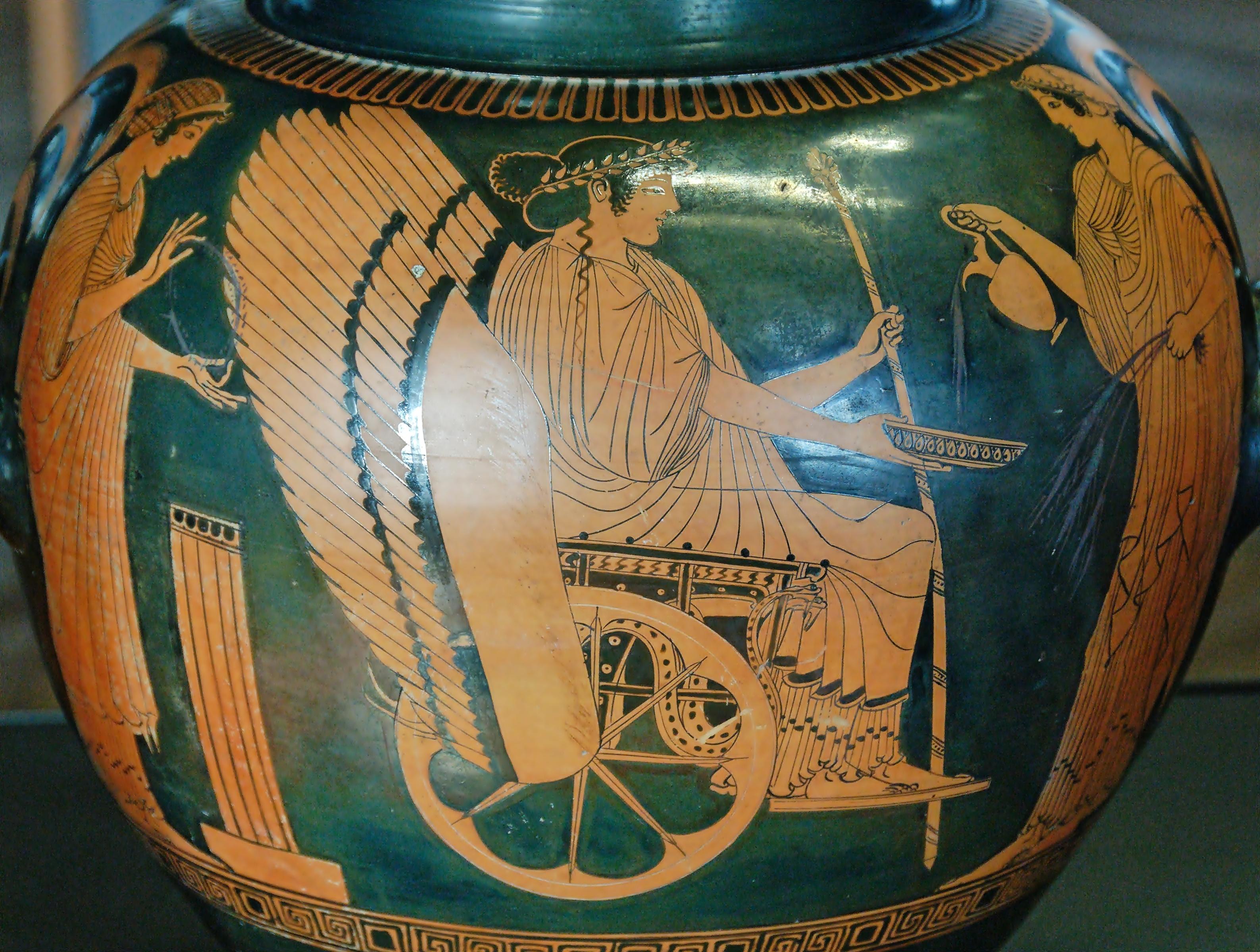 【德墨忒尔△图】德墨忒尔的古希腊瓶绘图片