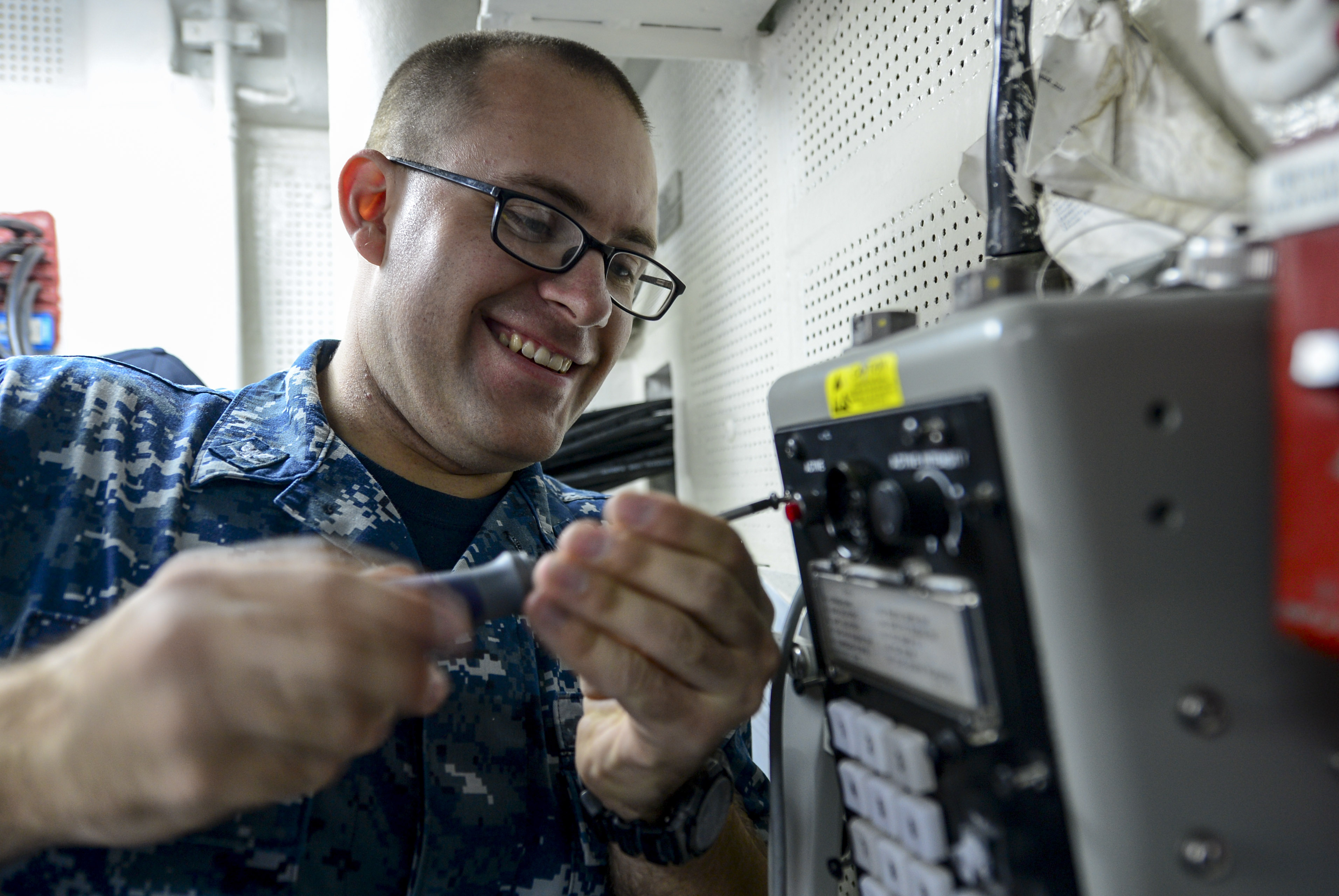 File:U.S. Navy Interior Communications Electrician 3rd Class ...