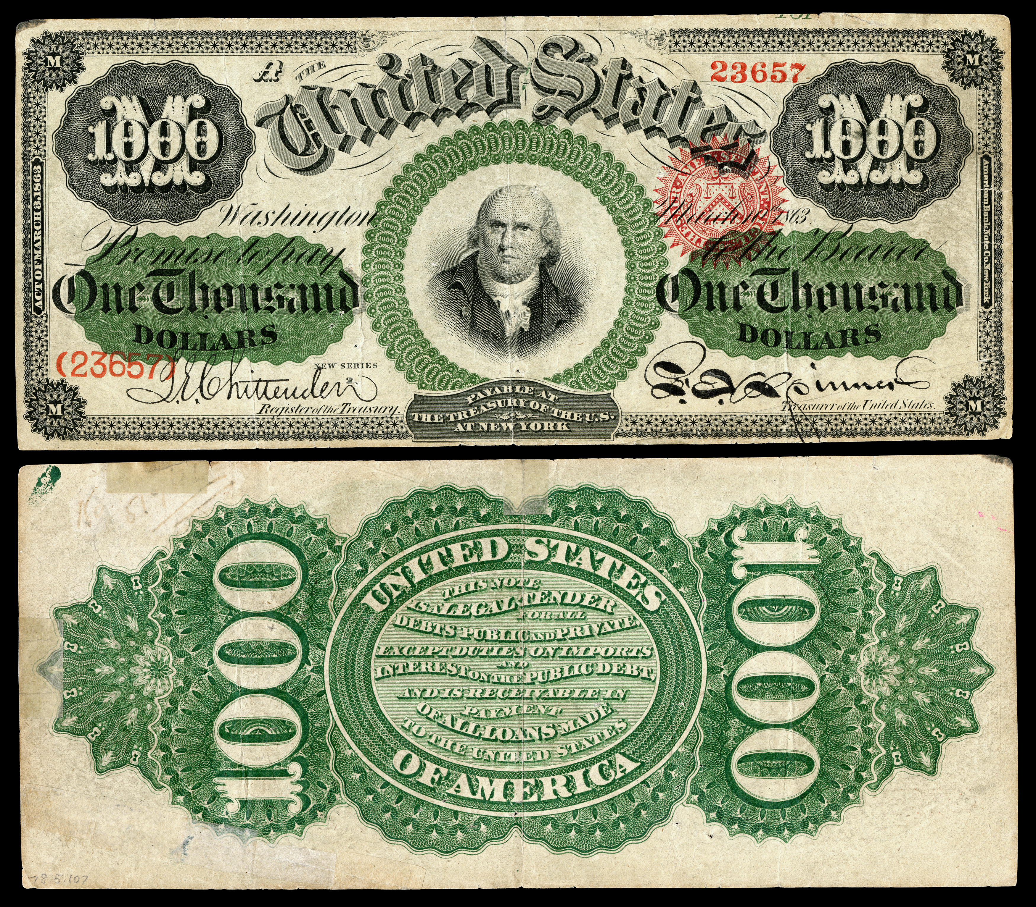 james madison five thousand dollar bill