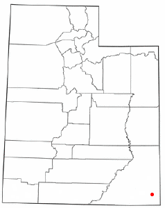 Location of Montezuma Creek, Utah
