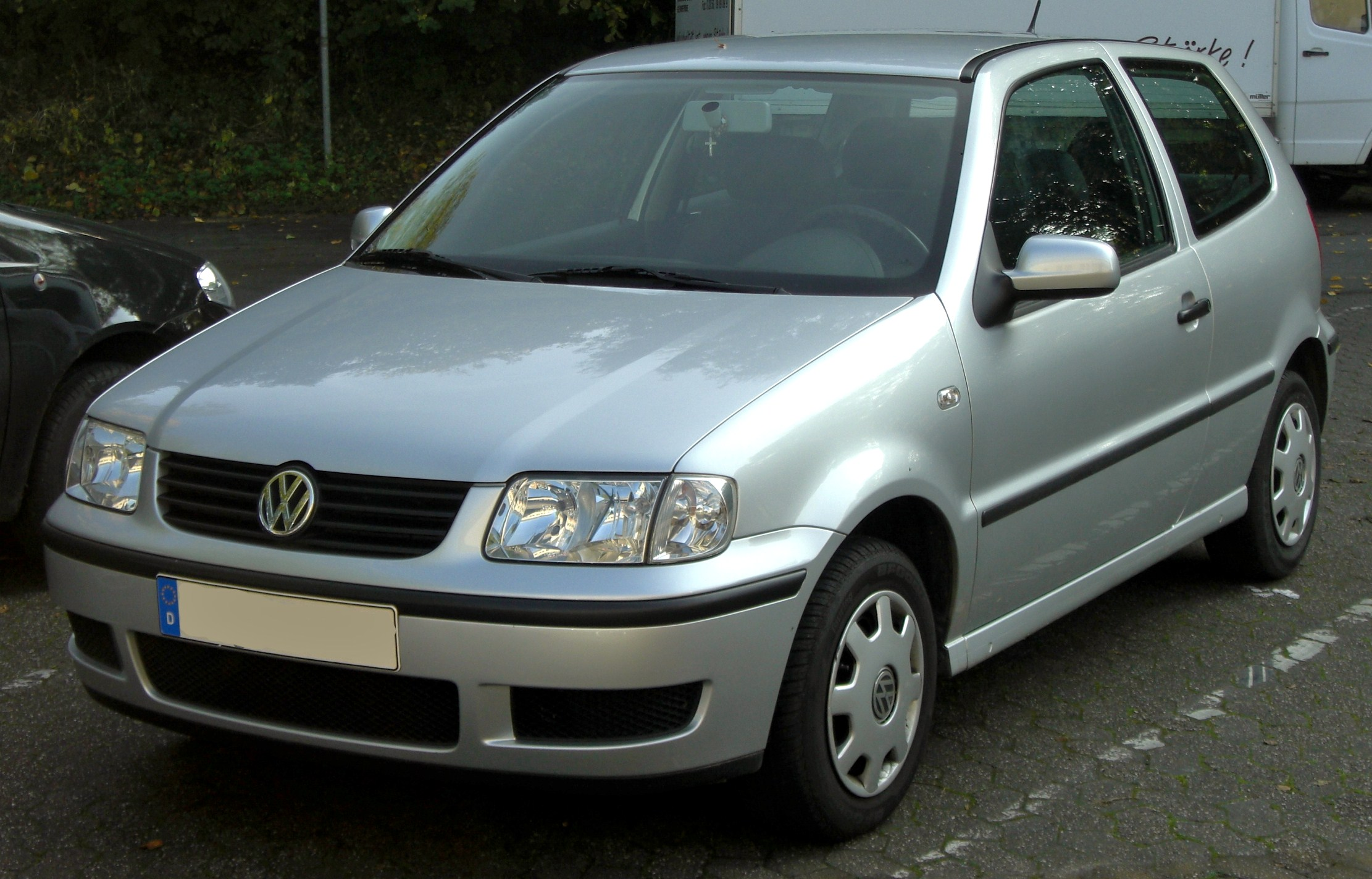 file vw polo iii 2 facelift front jpg wikipedia. Black Bedroom Furniture Sets. Home Design Ideas