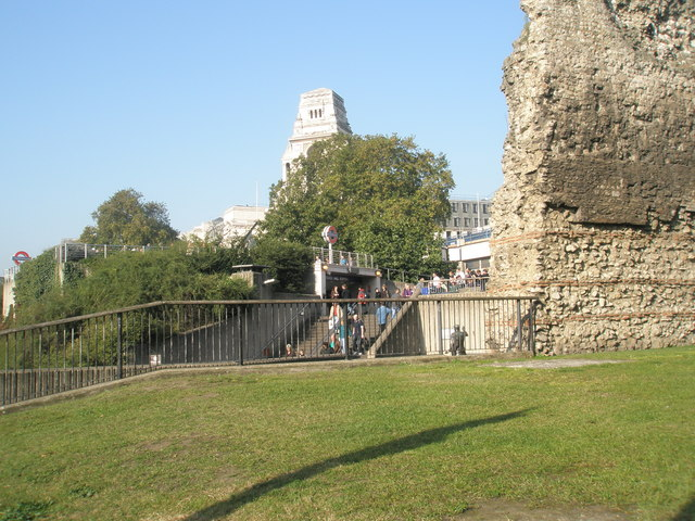 View of Tower Hill Tube Station from The Green - geograph.org.uk - 1008971