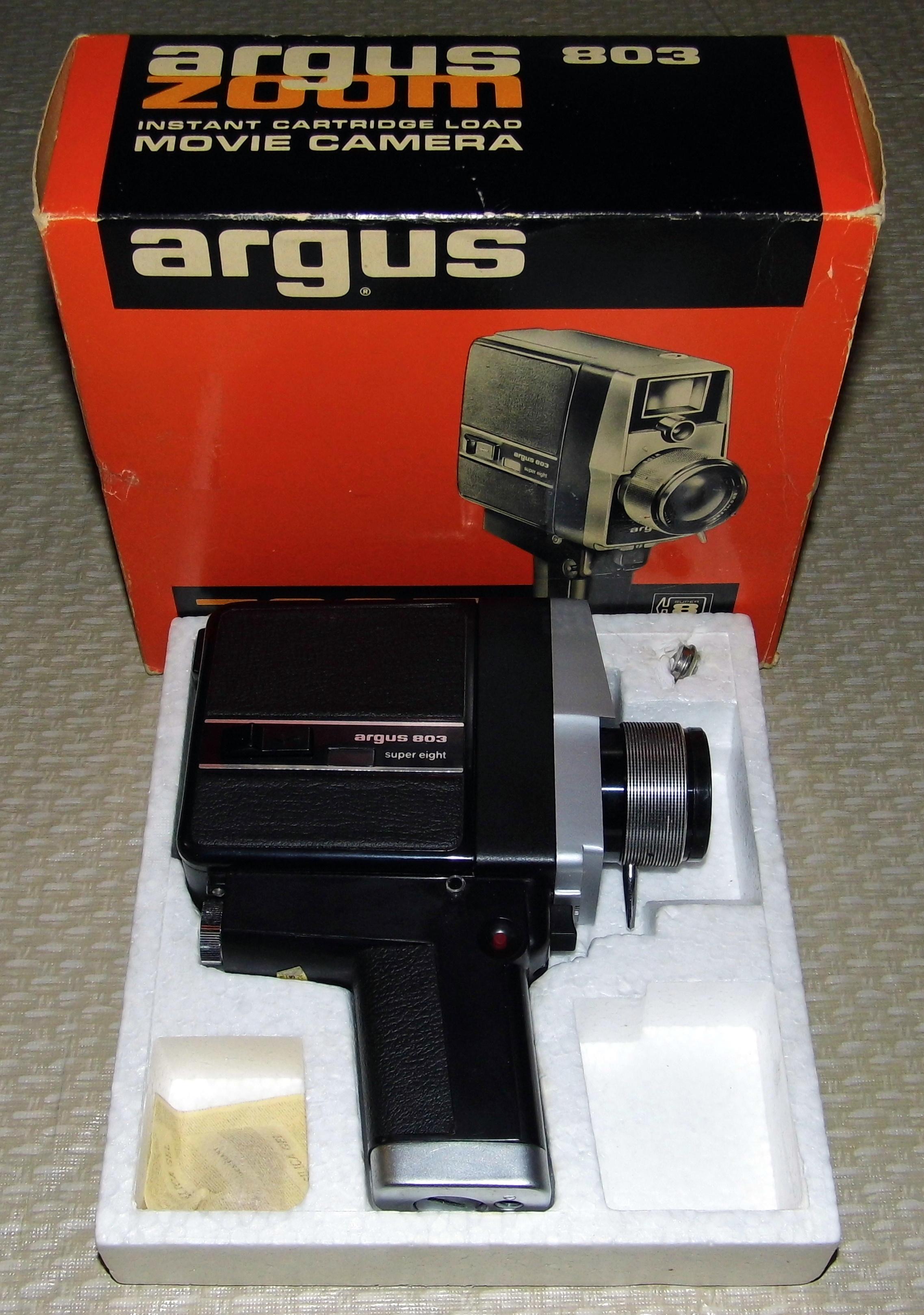 File:Vintage Argus 803 Zoom Super 8 Movie Camera, Instant