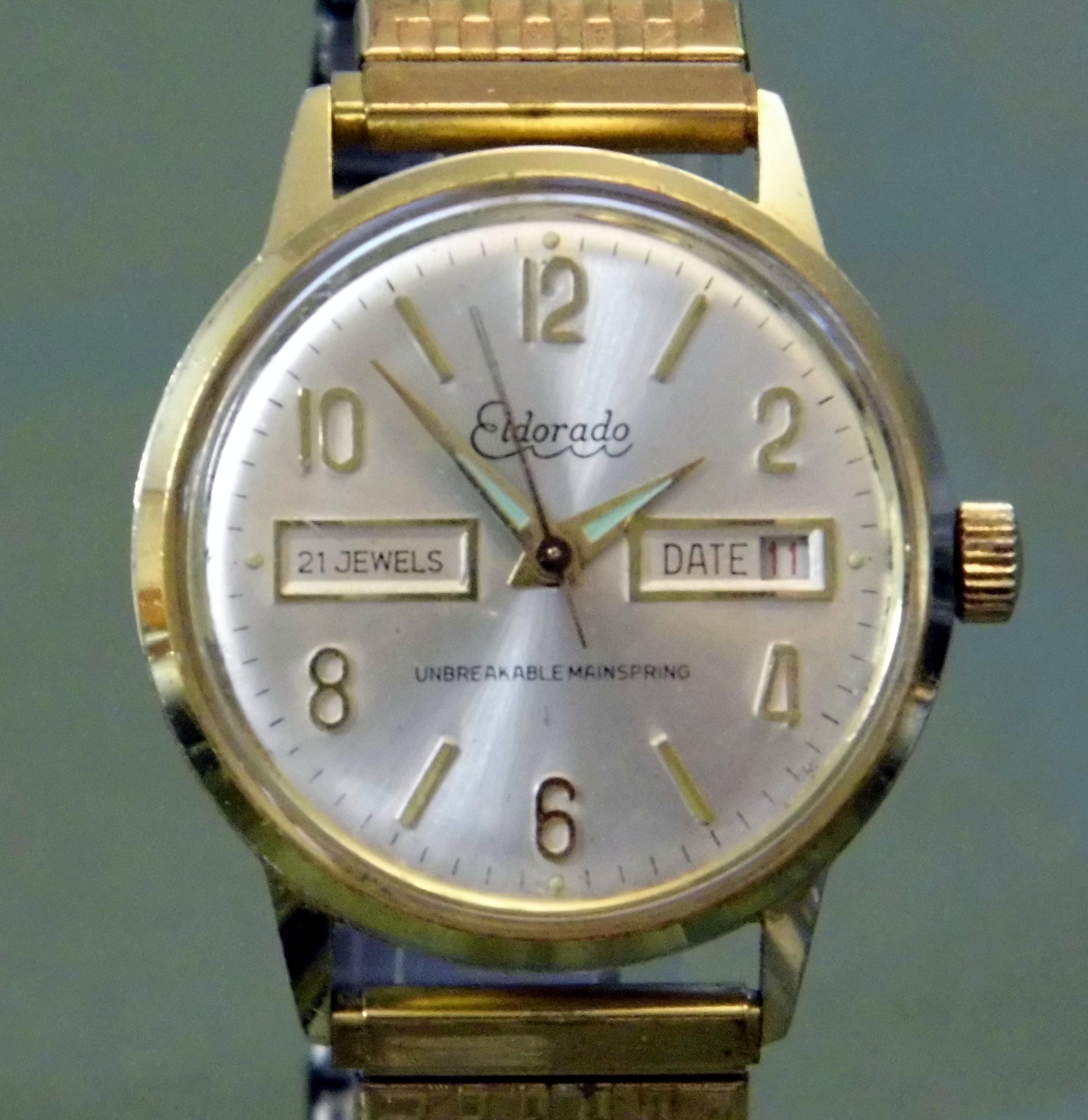 file vintage eldorado manual wind watch  21 jewels Affordable Manual Wind Watches Manual Wind Rolex Watches